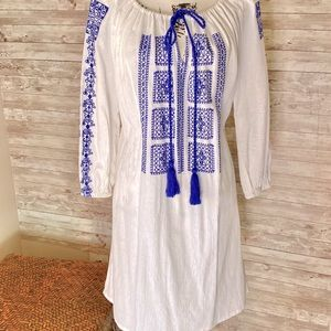 100% Cotton Embroidered C&T Beach Dress